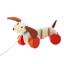 Plan Toys Happy Puppy Pull Along Eco Toy