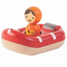 Plan Toys - Coastguard Boat Wooden Eco Toy