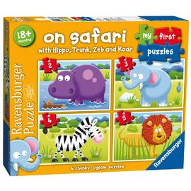 Ravensburger - On Safari My First Puzzle 2 3 4 5 Pc (4 Puzzle Set)