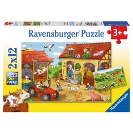 Ravensburger Working on the Farm Jigsaw Puzzle 2x12pc
