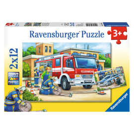 Ravensburger - Police and Firefighters Jigsaw Puzzle 2x12pc
