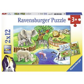 Ravensburger Animals In The Zoo Jigsaw Puzzle 2x12pc