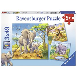 Ravensburger Wild Animals 3x49pc Jigsaw Puzzles
