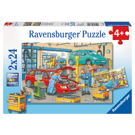Ravensburger At the Service Station Jigsaw Puzzle 2x24pc