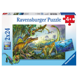 Ravensburger Primeval Giants Jigsaw Puzzle 2x24pc