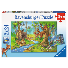 Ravensburger - Cute Forest Animals Jigsaw Puzzle 2x24pc