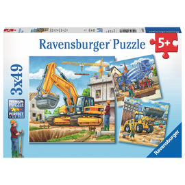 Ravensburger - Construction Vehicle 3x49pc Jigsaw Puzzle
