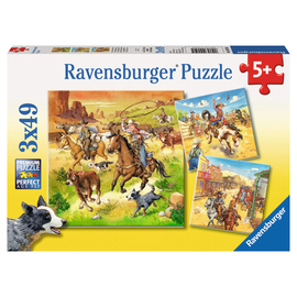 Ravensburger - In the Wild West 3x49pc Jigsaw Puzzle