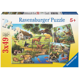 Ravensburger Forest, Zoo & Pets 3x49pc Jigsaw Puzzles