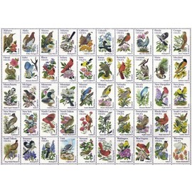 Ravensburger - 50 Bird Stamps Large Format Jigsaw Puzzle 300pc