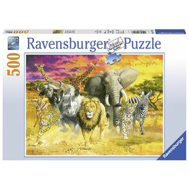 Ravensburger - African Animals  Jigsaw Puzzle 500pc