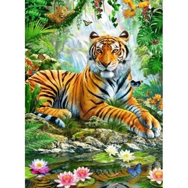 Ravensburger - Tiger In The Jungle  Jigsaw Puzzle 500pc