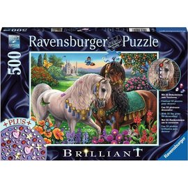 Ravensburger - Adorned Stallions Brilliant Jigsaw Puzzle 500pc