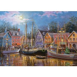 Ravensburger Ships Aglow 500pc Large Piece Jigsaw Puzzle