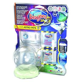Aqua Dragons in Space - Live Astro Pets with Glow In The Dark Tank