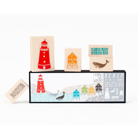 Yellow Owl Workshop - Beach Rubber Stamp Set