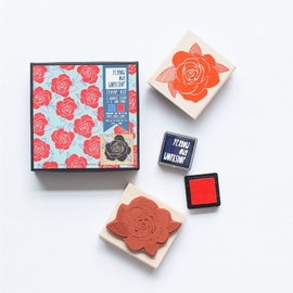 Yellow Owl Workshop - Rose Pattern Rubber Stamp Set