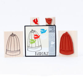 Yellow Owl Workshop - Birdcage Rubber Stamp Set