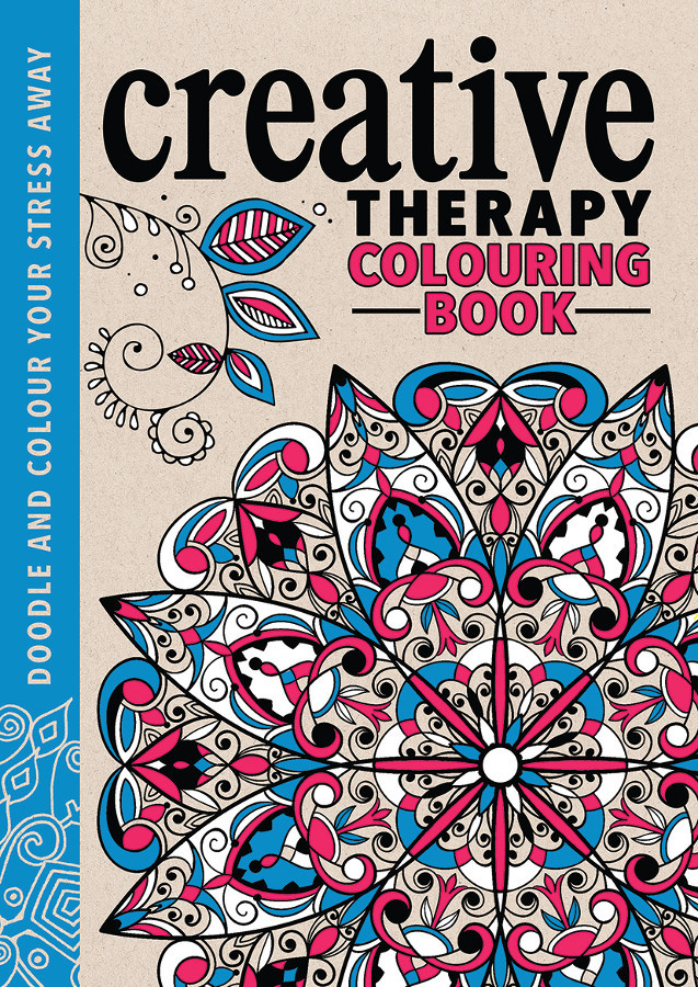 Creative Therapy Colouring Book For Teens Adults
