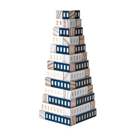 Areaware - Blockitecture Tower Wooden Blocks Set | Blue