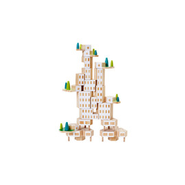 Areaware Blockitecture Garden City Mega Set Building Blocks | Wooden Blocks Set