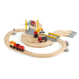 BRIO Rail & Road Crane Set 26 Pcs