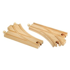 BRIO Curved Switching Tracks for Railway 2 Pcs