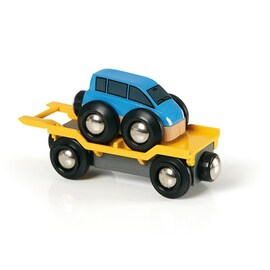 BRIO Car Transporter for Railway | Wooden 2 Piece Set