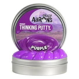 Crazy Aarons Thinking Putty | Purple - Primary Colour Mini Tin