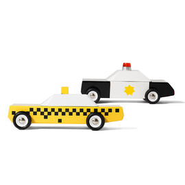 Candylab - Mini Pack City Toy Car | Wooden Toy Cars 2pk