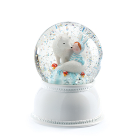 Djeco Night Light - Lila Pupi Snow Globe