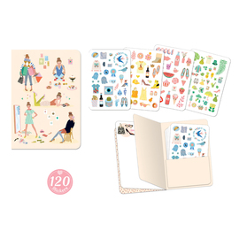 Djeco Lovely Paper Tinou Notebook with 120 Stickers
