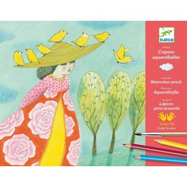 Djeco Watercolour Pencils Workshop - Close Calls | Aquarelle Colouring Set