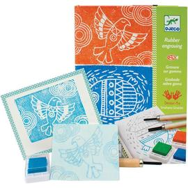 Djeco Rubber Engraving Stamp Art Kit