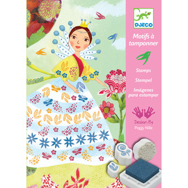 Djeco Flower Maidens Stamp Art Kit