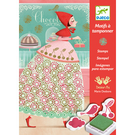 Djeco An Elegant Parade Stamp Art Kit