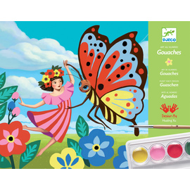 Djeco Art By Number Gouaches Minuscules Painting Kit