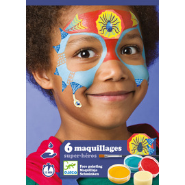 Djeco Super Heroes Body Art | Face Painting Kit