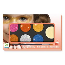Djeco Metallic Body Art & Face Painting Palette | 6 Colours