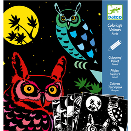 Djeco The Forest Velvet Colouring Art Kit