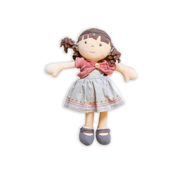 Bonikka Doll - Rose with Brown Hair | Rag Doll
