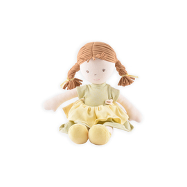 Bonikka Rag Doll - Honey with Light Brown Hair and Green Cotton Dress