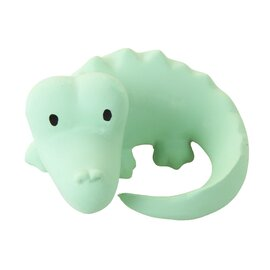 Tikiri My First Zoo Animals - Crocodile | Natural Rubber Rattle & Teether Toys