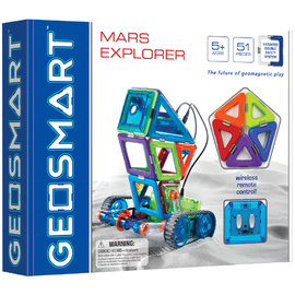 GeoSmart - Mars Explorer Magnetic Construction Kit | Motorised w Remote Control