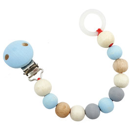 Hess-Spielzeug Pacifier Chain | Natural Blue