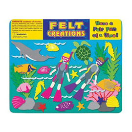 Felt Creations - Aquatic Diving Felt Story Board