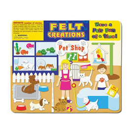 Felt Creations - Pet Shop Felt Story Board