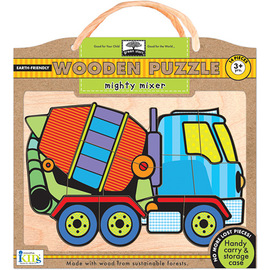Innovative Kids Green Start | Mighty Mixer - 14pc Wooden Jigsaw Puzzle