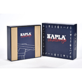 KAPLA Planks Challenge Box | 16pc Plain Plank Set & Challenge Cards