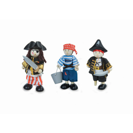 Le Toy Van Budkins - Pirate Wooden Dolls